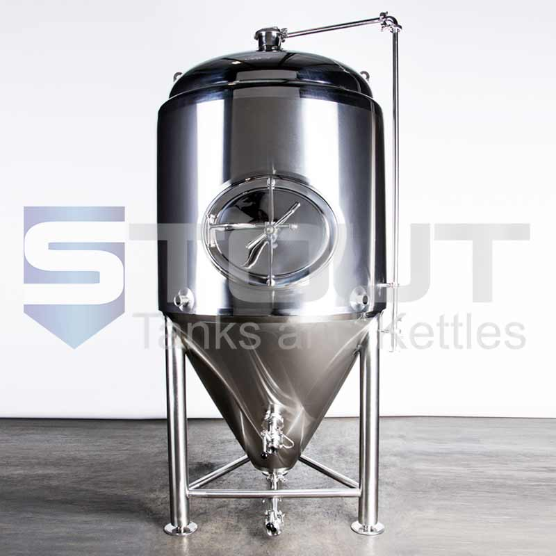 TOP SELLER!! - 3 BBL Conical Fermenter / Unitank  (Jacketed with Side Manway)