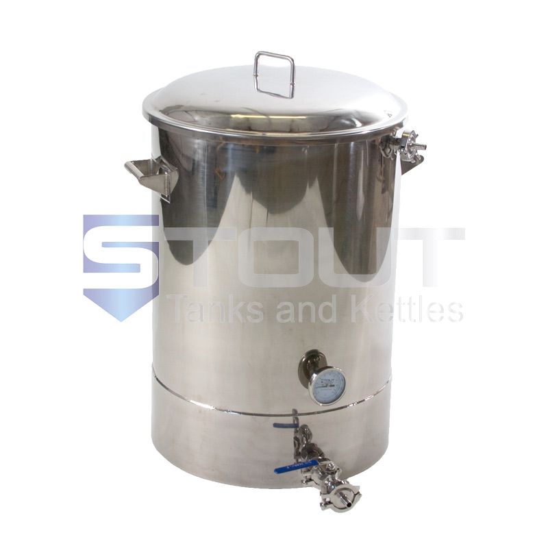 30 Gallon Mash Tun (with Recirculating Fitting and Bottom Outlet)