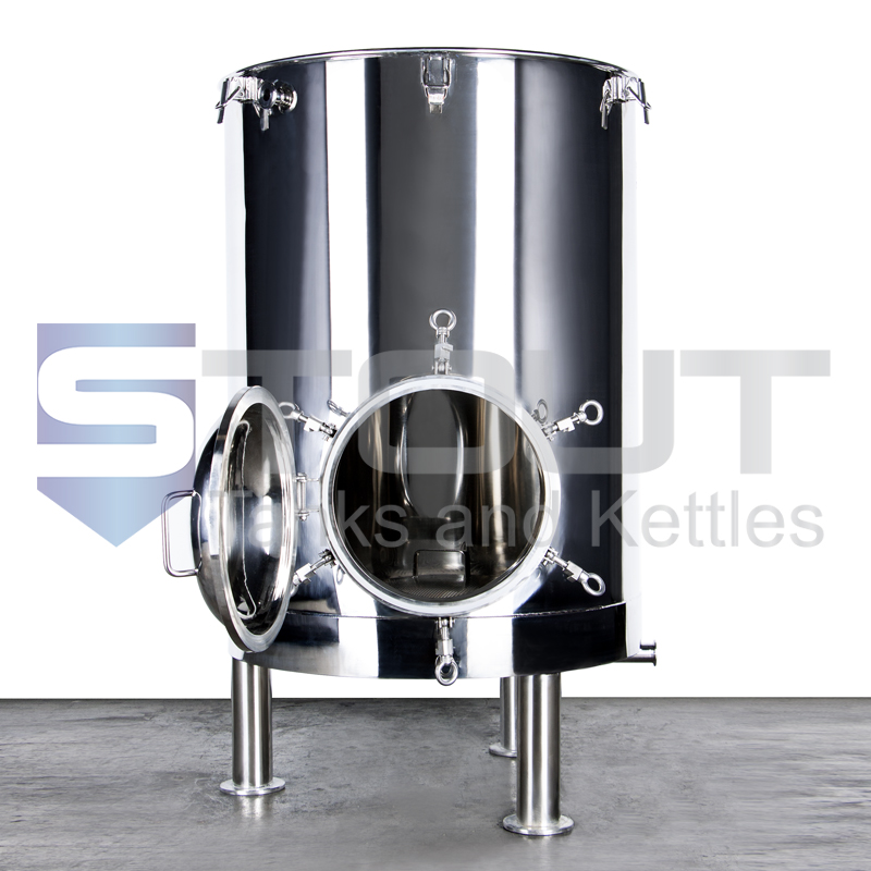 3 BBL Mash Tun (with 3 Recirculation Fittings)