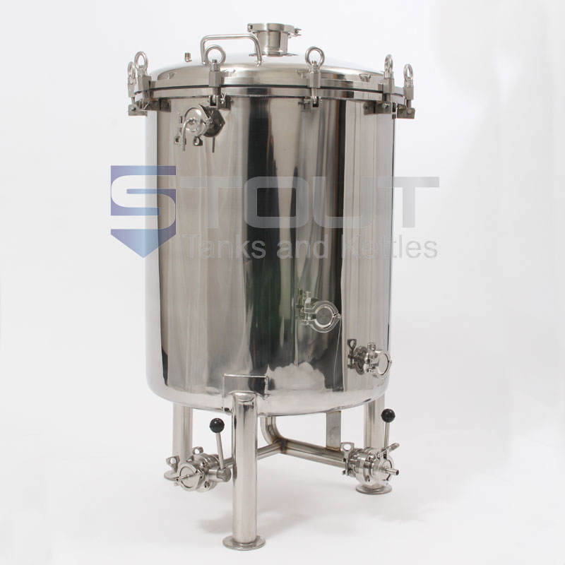 1 BBL Brite Tank with Butterfly Valves (Non-Jacketed)