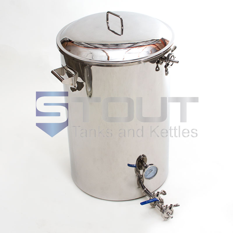 40 Gallon Mash Tun (with Recirculating Fitting and Side Outlet)