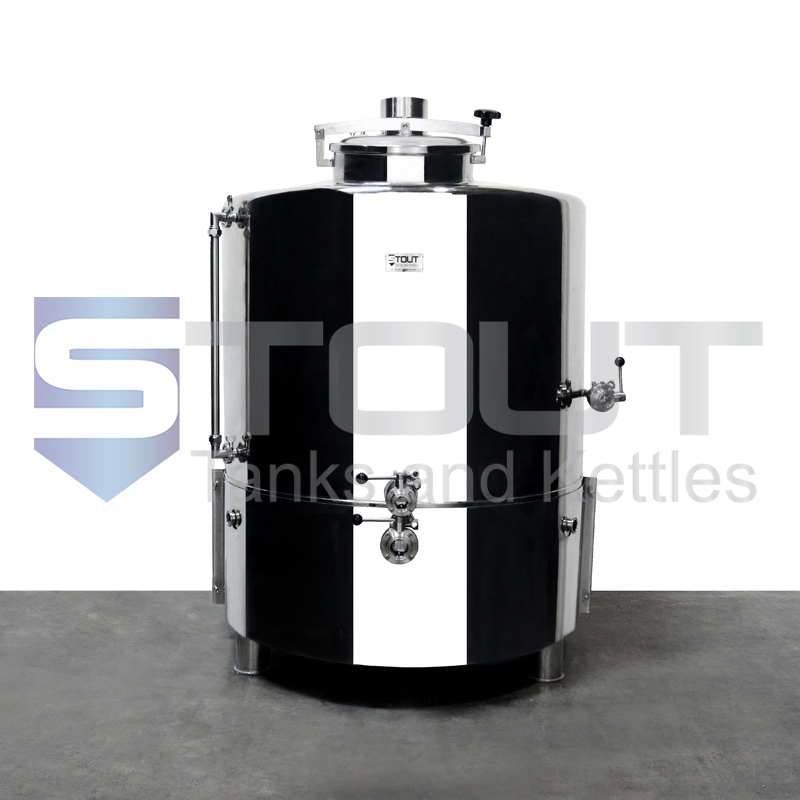5 BBL Brew Kettle - with Dome Top, Bottom Heat Shield, Sloped Bottom (Direct Fire)