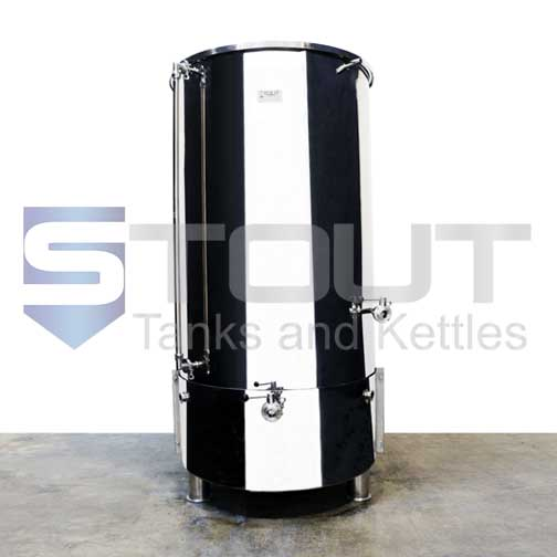 7 BBL Hot Liquor Tank with HERMS coil and Bottom Heat Shield (Direct Fire)
