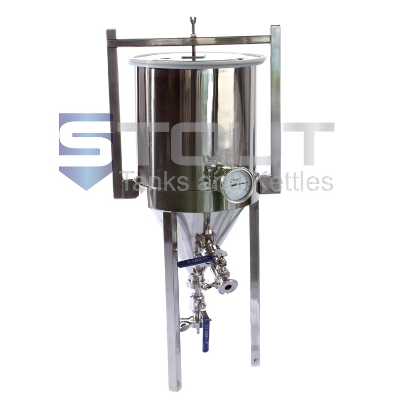 7 Gallon Conical Fermenter (with Thermowell and Thermometer) - ONLY A FEW LEFT!!