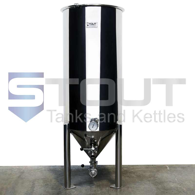 2 BBL Conical Fermenter (with Thermowell and Butterfly Valves)