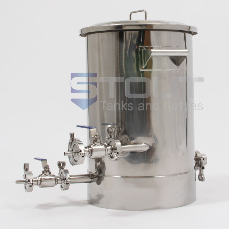 10 Gallon Brew Kettle - with Thermowell, Tangential Inlet, Element Port (Electric)