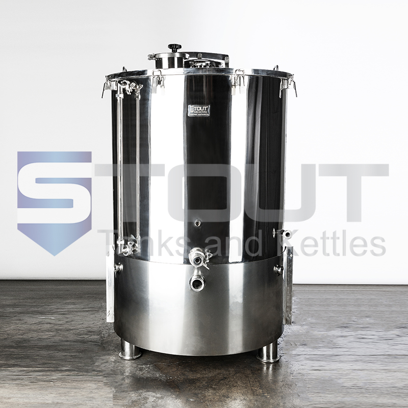 4 BBL Brew Kettle - with Sloped Bottom, Heat Shields (Direct Fire)