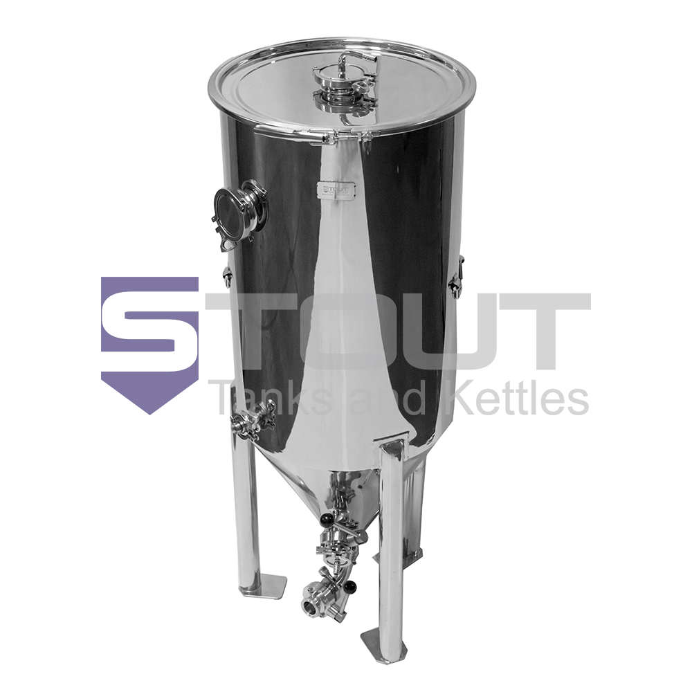 40 Gallon Conical Fermenter (with Butterfly Valves) Designed to Fit in a Freezer
