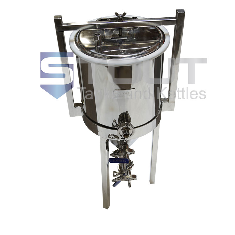 7 Gallon Conical Fermenter (With Thermowell and Cooling Coil) - POPULAR ITEM!!