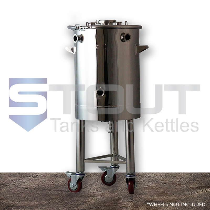 20 Gallon Mash Tun for Low Oxygen brewing (On Legs)