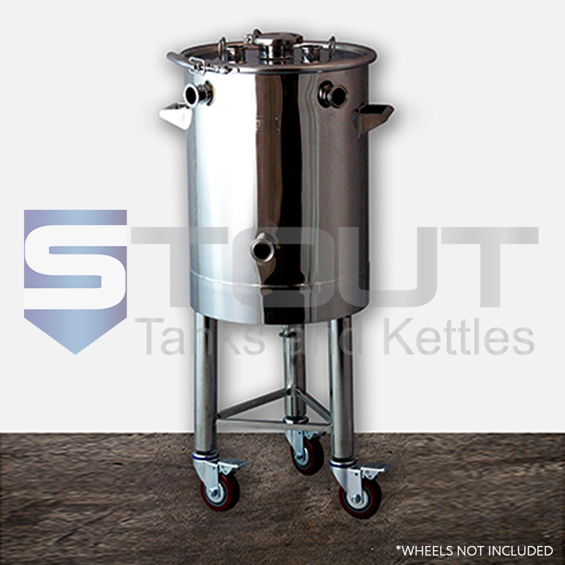 20.6 Gallon Brew Kettle for Low Oxygen brewing - On Legs (Electric)