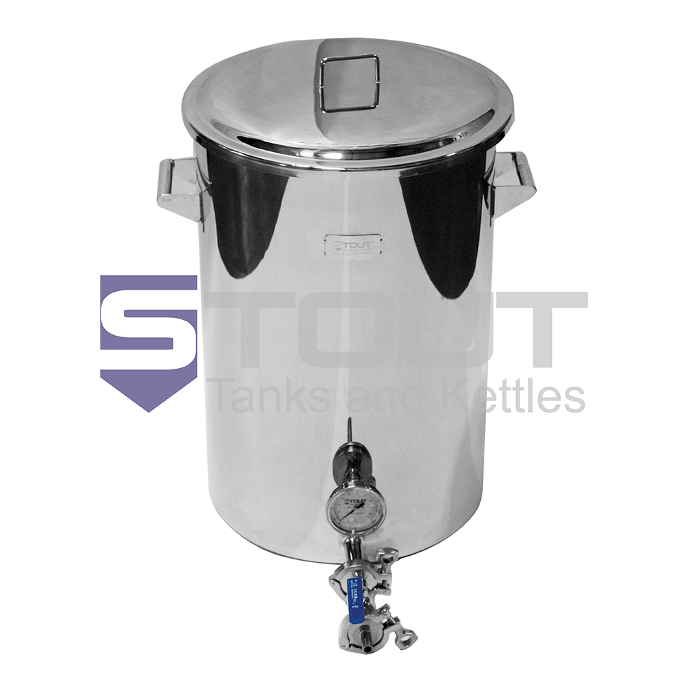 20 Gallon Hot Liquor Tank - with Thermowell and Laser Level Marks (Direct Fire)