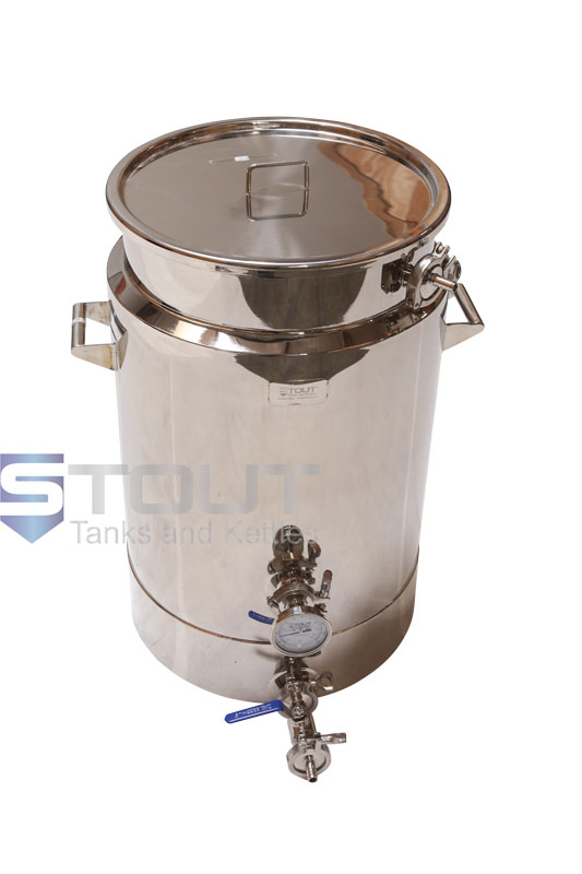 20 Gallon Mash Tun (Insulated with Bottom Outlet)