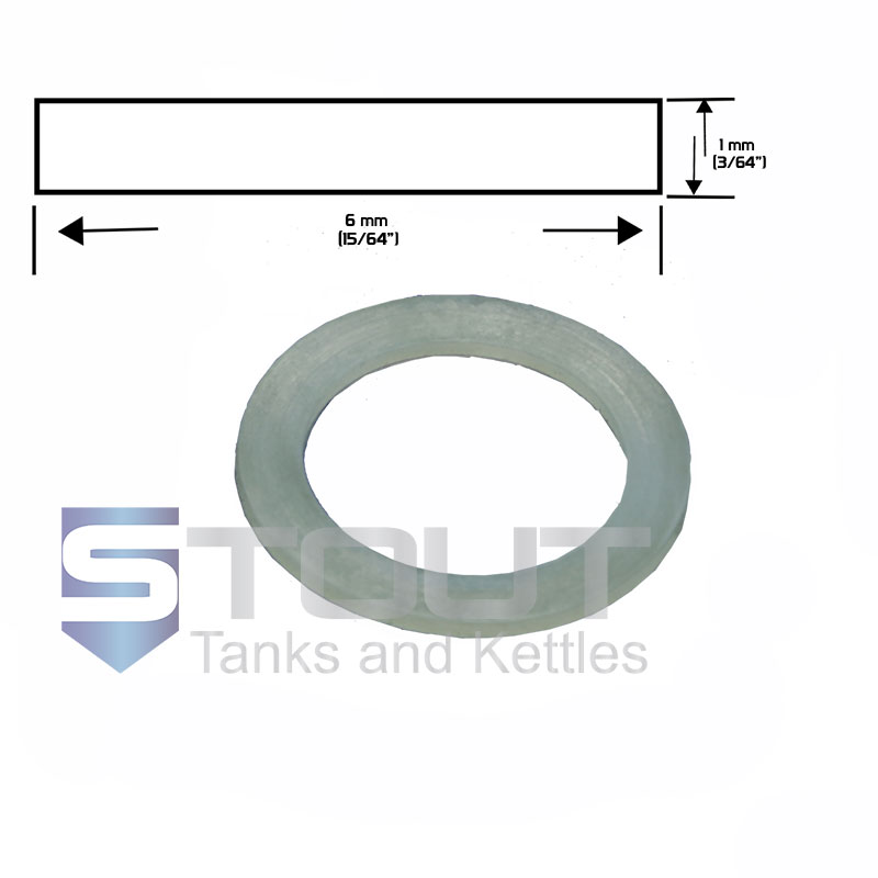 "Replacement Silicone Gasket (for 1.5"" Inline Sight Glass)"