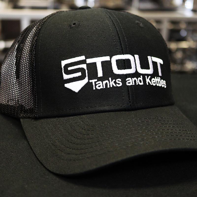 Stout Tanks Trucker Hat - Black with Nylon Black Mesh