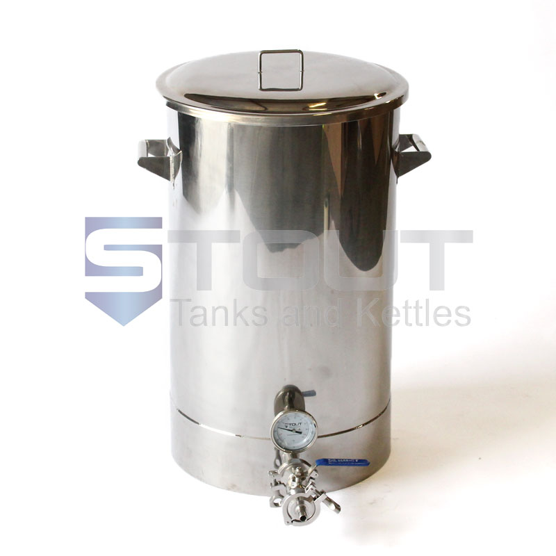 20 Gallon Brew Kettle - with Thermowell and Thermometer (Direct Fire) - ONLY 1 LEFT!!