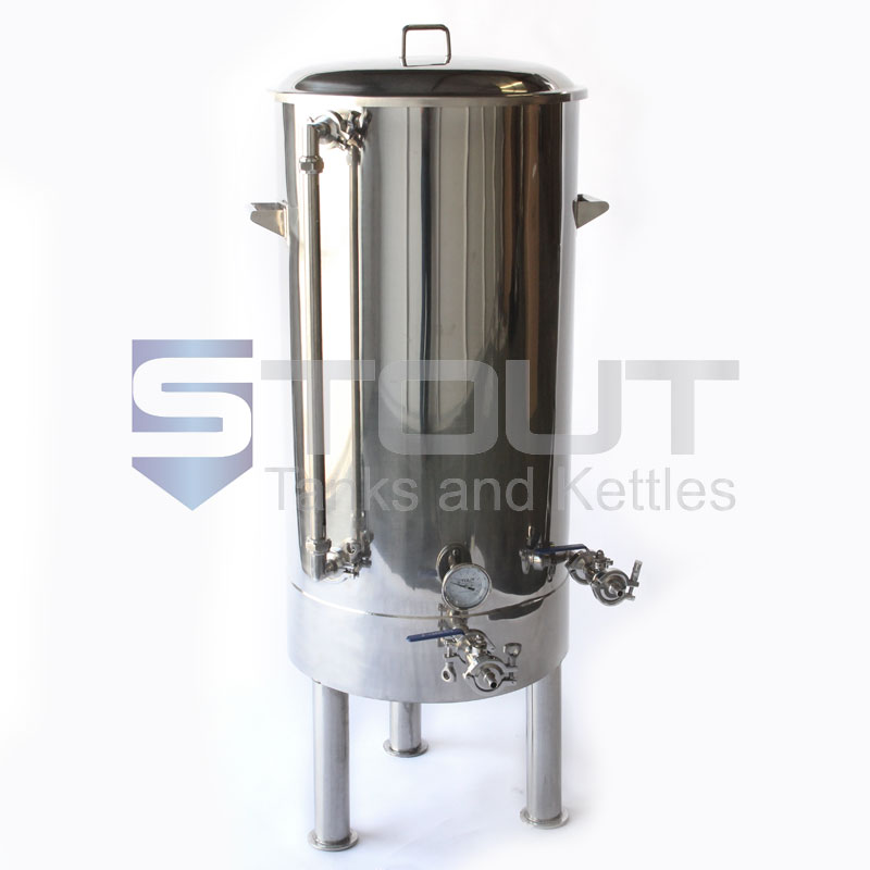 45 Gallon Brew Kettle - with Tangential Inlet, Sight Glass and Legs (Direct Fire)