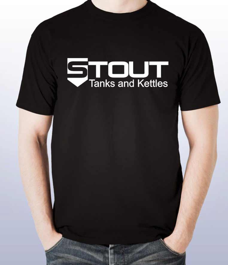 Limited Edition Stout Tanks T-Shirt - black/white (size LARGE)