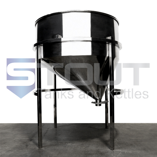 Integrated Grist Hopper (for 5bbl - 15bbl Mash Tuns)