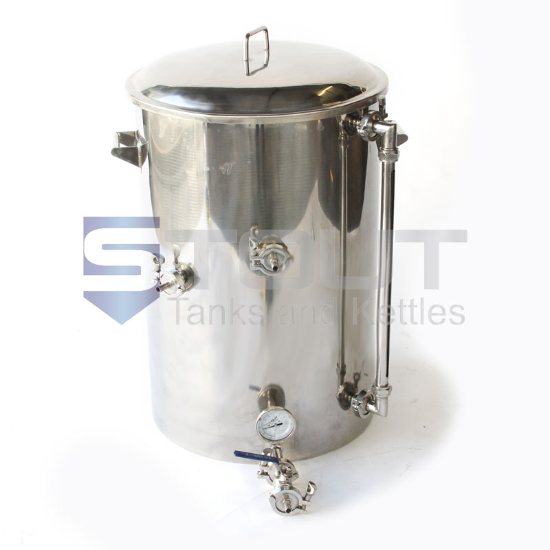40 Gallon Hot Liquor Tank (with HERMS Coil and Sight Glass)