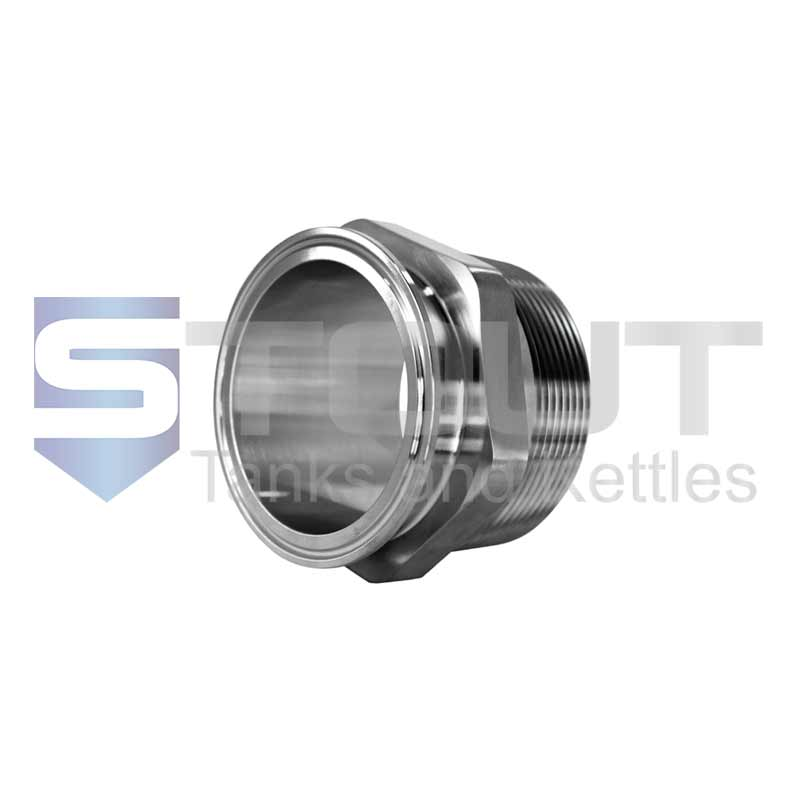 """Male NPT Adapter   4"""" Tri Clamp x 4"""" (304SS)"""