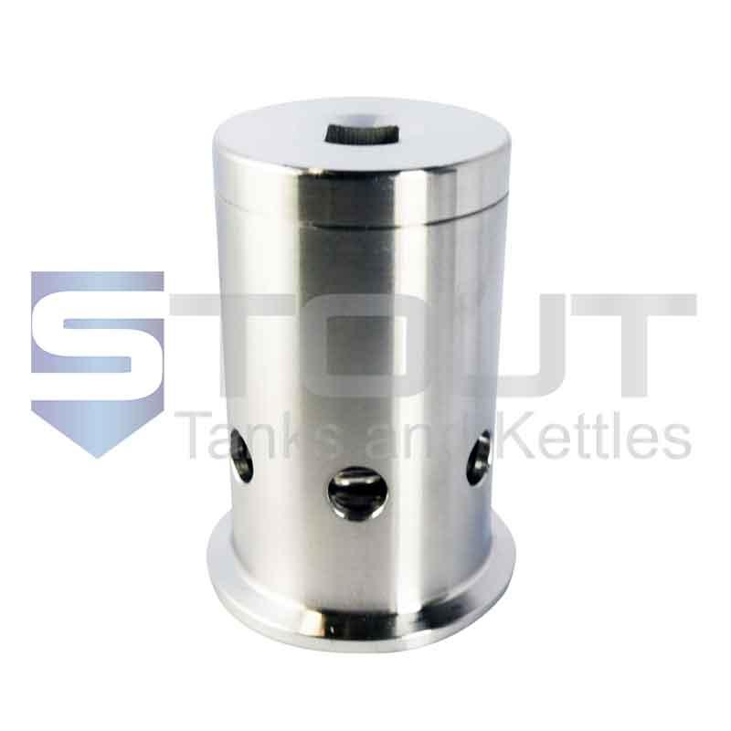 """Pressure/Vacuum Relief Valve   1.5"""" Tri Clamp, 30 PSI (304SS)"""
