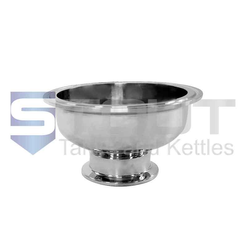 "Bowl Reducer | 4"" Tri Clamp x 2"" (304SS)"