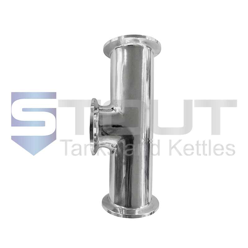 """Instrument Tee (1.5"""" Tri Clamp, 304SS)"""
