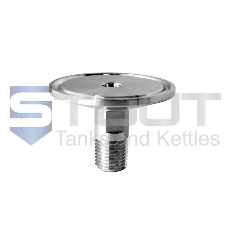 """Male NPT Adapter   1.5"""" Tri Clamp x 1/4""""  (304SS)"""