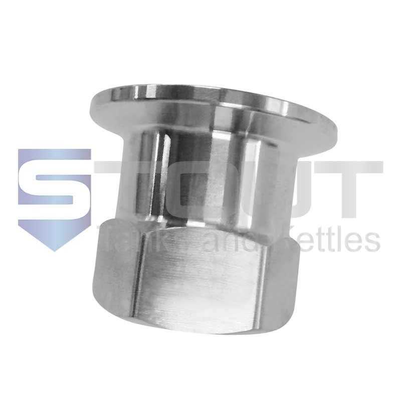 "Female NPT Adapter | 1.5"" Tri Clamp x 3/4"" (304SS)"