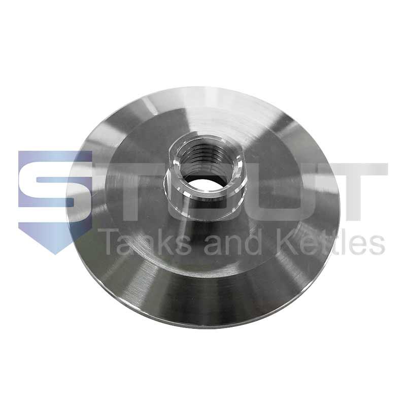 "Female NPT Adapter | 2"" Tri Clamp x 1/4"" (Short, 304SS)"