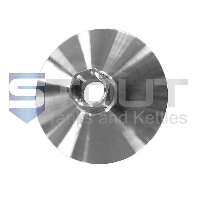 "NPT Adapter Cone | 1.5"" Tri Clamp x 1/4"" FNPT (Female, 304SS)"