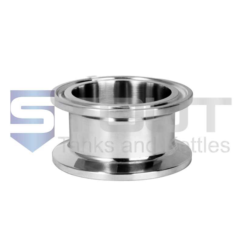 "Sanitary Spool | 1.5"" Tri Clamp x 3"" Long (304SS)"