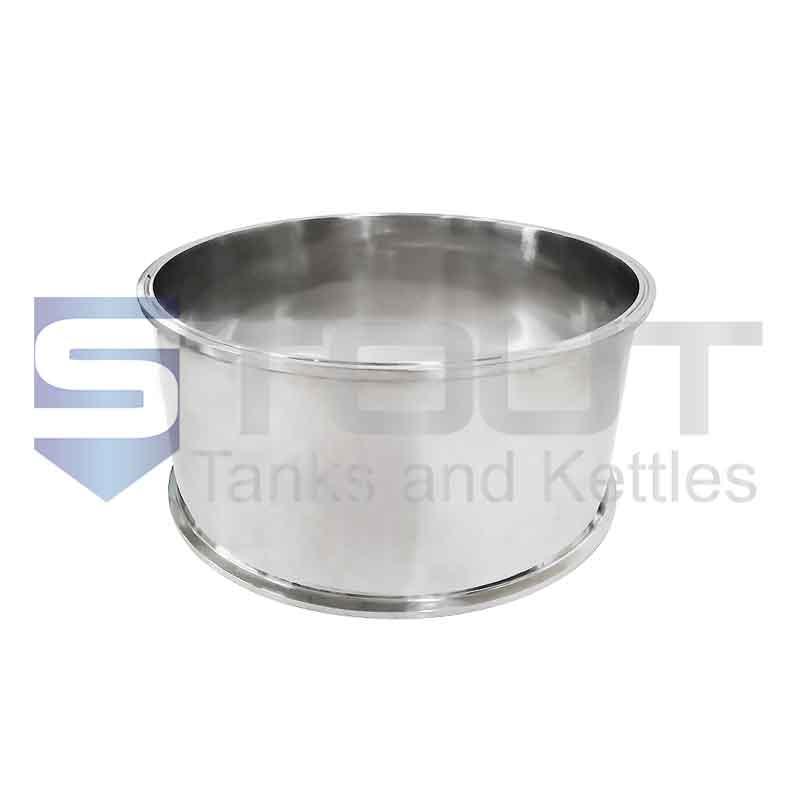 "Sanitary Spool   12"" Tri Clamp x 8"" Long (304SS)"