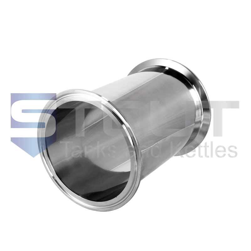 "Sanitary Spool | 4"" Tri Clamp x 6"" Long (304SS)"