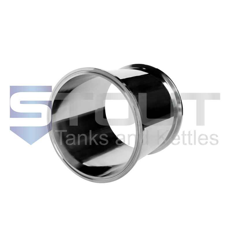 "Sanitary Spool   6"" Tri Clamp x 6"" Long (304SS)"