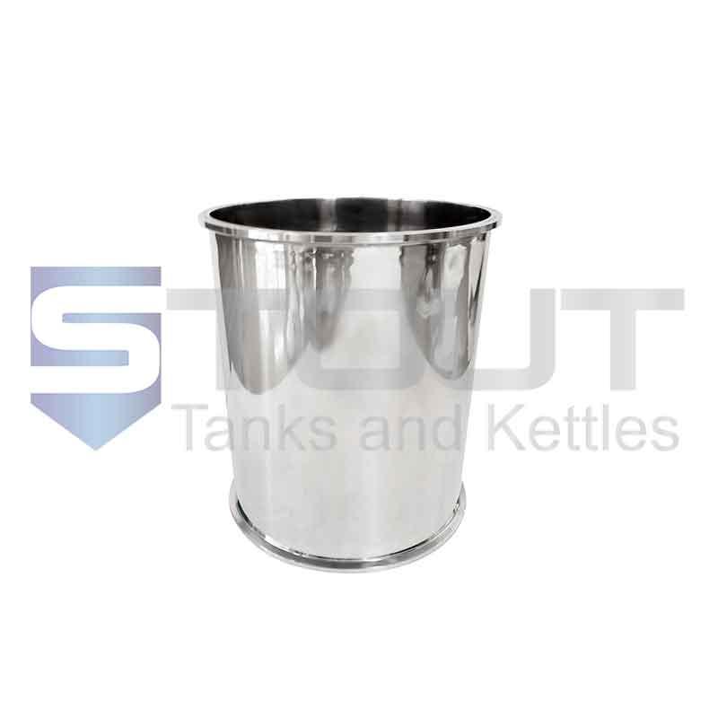 "Sanitary Spool   8"" Tri Clamp x 12"" Long (304SS)"