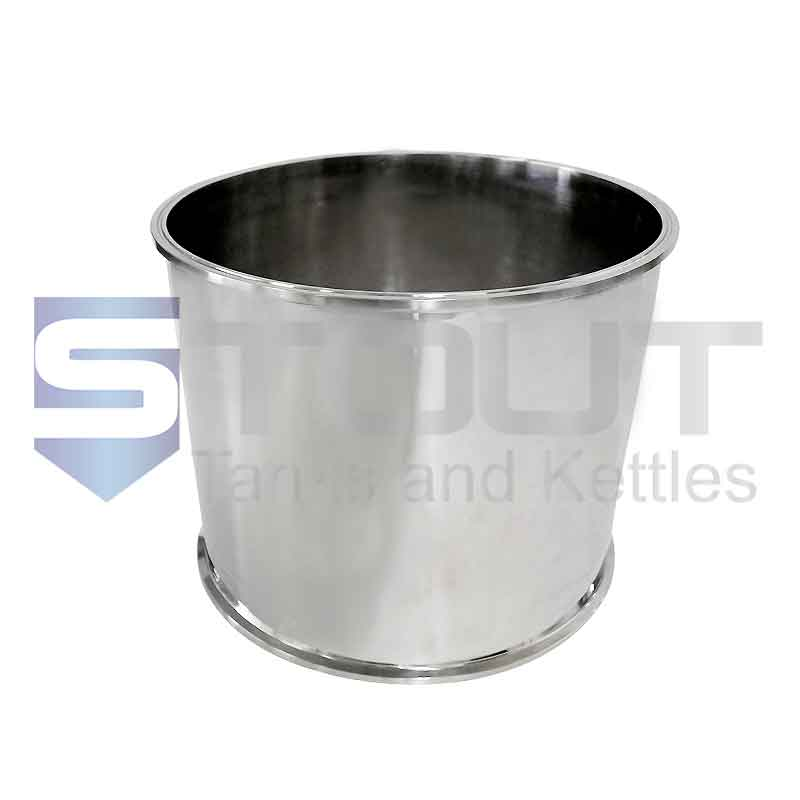 "Sanitary Spool | 8"" Tri Clamp x 6"" Long (304SS)"