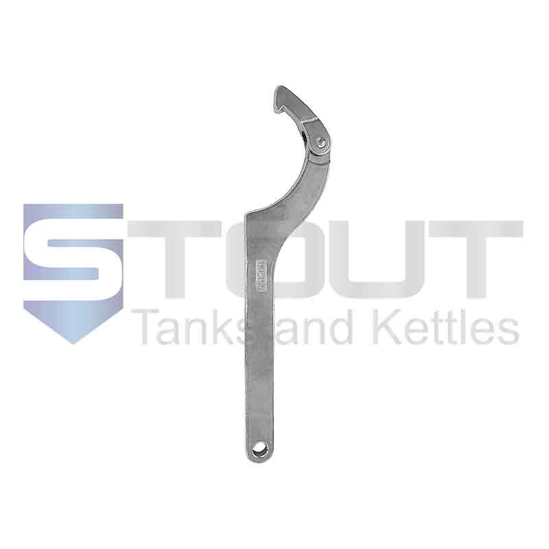 """DIN Round Nut Wrench   3 - 6"""" (304SS)"""