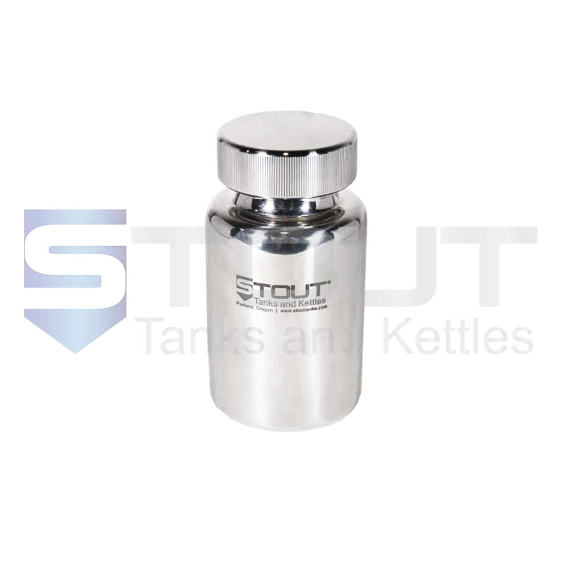 0.5 Liter Pharma Container | Screw on Lid (316SS)