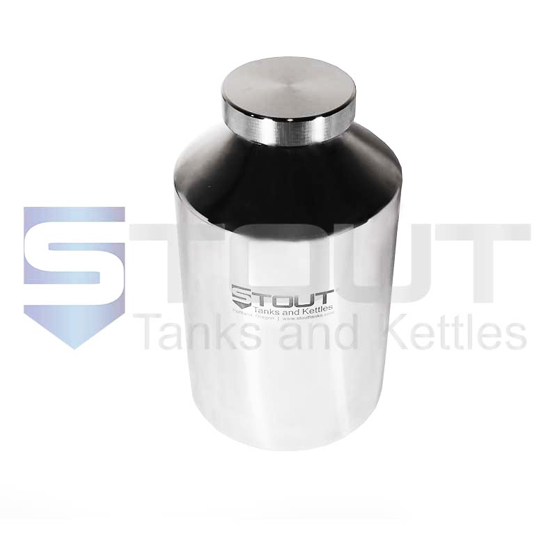 10 Liter (2.6 Gal) Pharma Container   Screw-on Lid (316SS)
