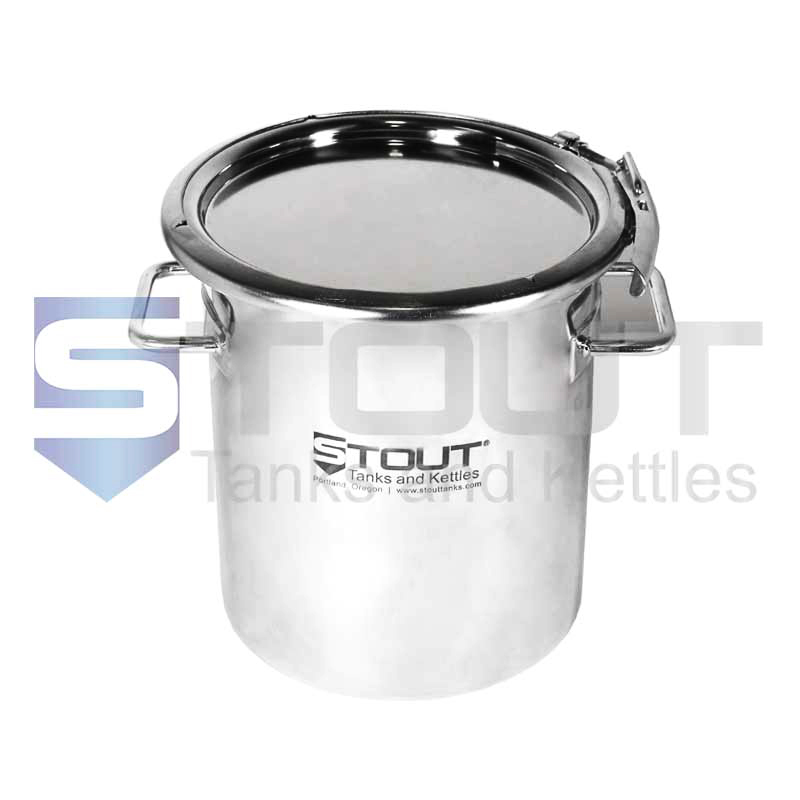 11 Liter (3 Gal) Stainless Steel Drum   Ring Clamp Lid (316SS)