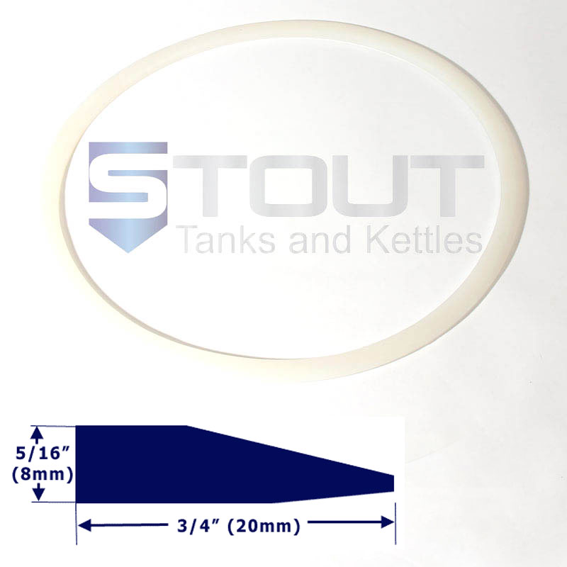 Lid Gasket | for 14.5 Gallon Conical Fermenter with ring clamp lid