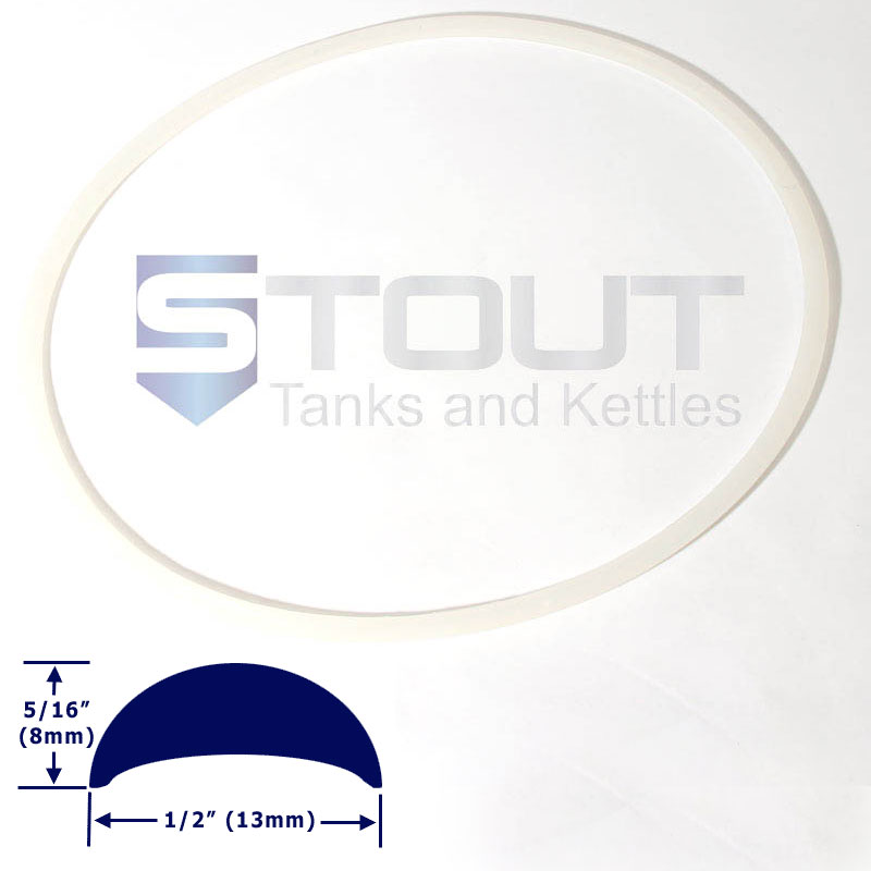 Lid Gasket | for 7.3, 14.5, 80-WH, 125 gallon fermenters with ring clamp lid