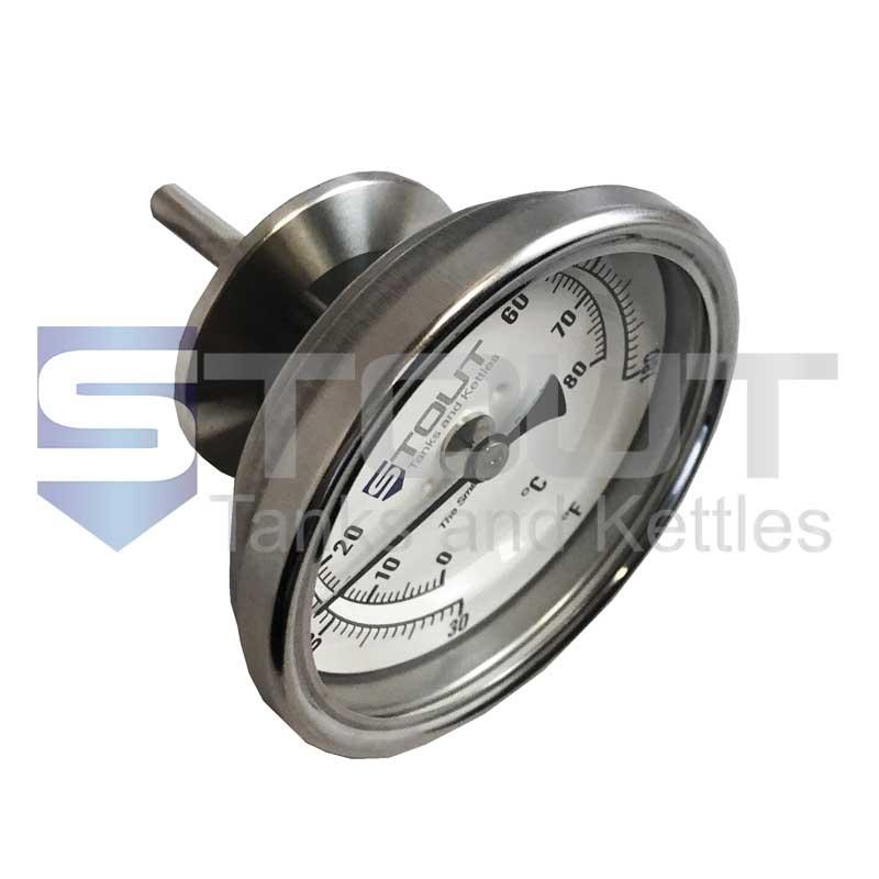 "Inline Thermometer | 1.5"" Tri Clamp x 1.65"" stem, 30-180F"