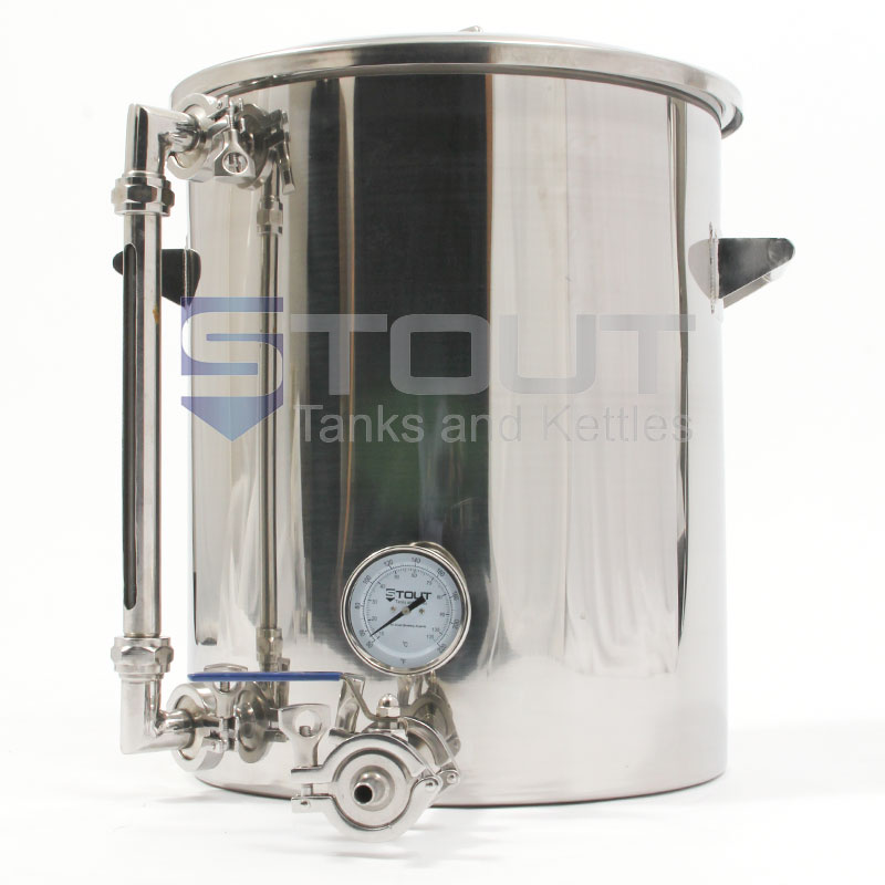 9 Gallon Hot Liquor Tank - with Sight Glass (Direct Fire) - ONLY A FEW LEFT!!