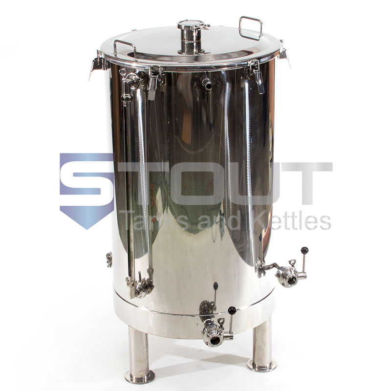 HL80TW-TI-RHC-SG-EL3-LS1-XP (405) 80 Gallon Hot Liquor Tank with 3 Element Ports and HERMS coil