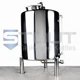 7 BBL Brew Kettle - with Conical Bottom, Dome Top, Trub Dam, Left Orientation (Electric)