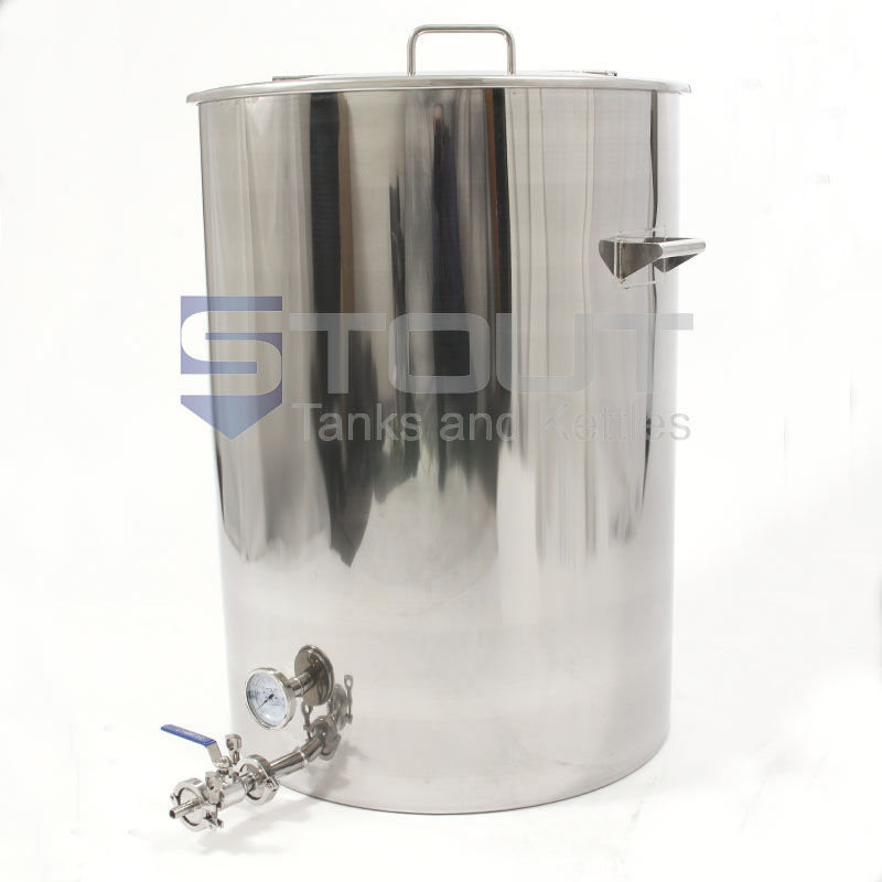 75 Gallon Brew Kettle - with Tangential Inlet (Direct Fire)