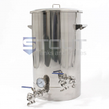 20 Gallon Brew Kettle - with Thermowell, Tangential Inlet and Laser Level (Direct Fire)